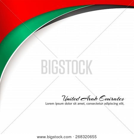 Template With Colors Of The National Flag Of United Arab Emirates Uae With The Text Of Happy Nationa