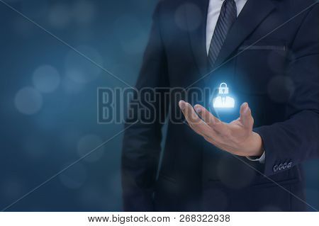 Gdpr Personal Data Protections Concept, Business Man Hand Holding The Gdpr Sign Icon , Man, Company,