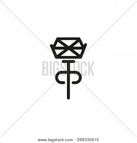 Stud Line Icon.  Handmade, Gemstone, Crystal. Jewelry Concept. Vector Illustration Can Be Used For T