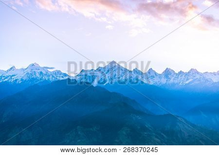 Sunrise On Pachchuli Peak Himalayas, Khaliya Top Munsiyari, Uttarakhand