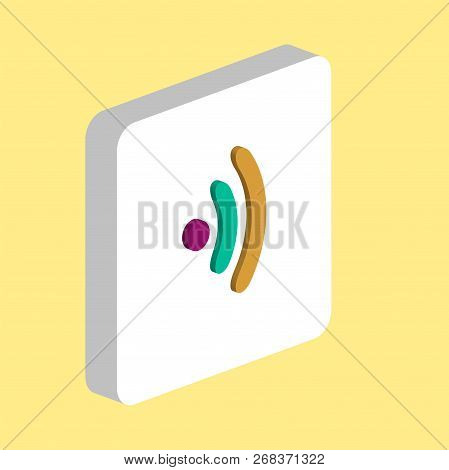 Wireless Simple Vector Icon. Illustration Symbol Design Template For Web Mobile Ui Element. Perfect