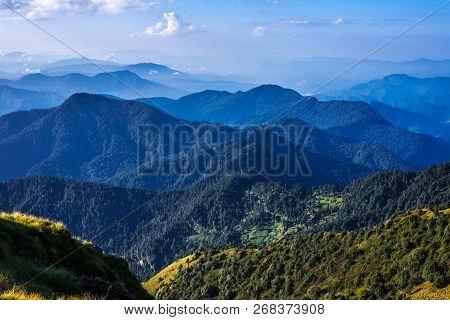 View From Khaliya Top - Landscape Of Himalayas, Khaliya Top, Munsiyari, Uttarakhand, India