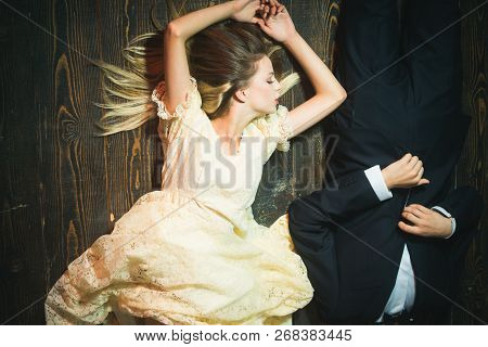 Fashion Man And Woman Are Dating. Elegant Couple In Love. Valentines Day. Love. Date Of Beautiful Co