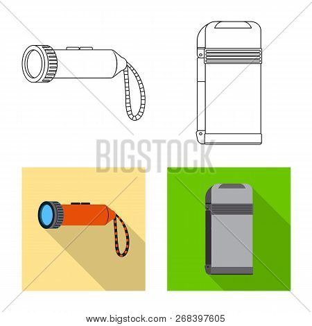 Isolated Object Of Mountaineering And Peak Icon. Set Of Mountaineering And Camp Stock Vector Illustr