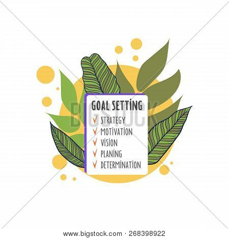 Smart Goal Setting Concept. Goal Concept, All Goals Vector Success Business Strategy Concept Icon