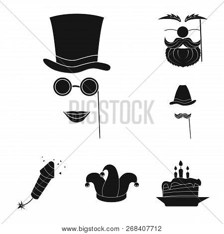 Vector Design Of Party And Birthday Symbol. Collection Of Party And Celebration Stock Symbol For Web