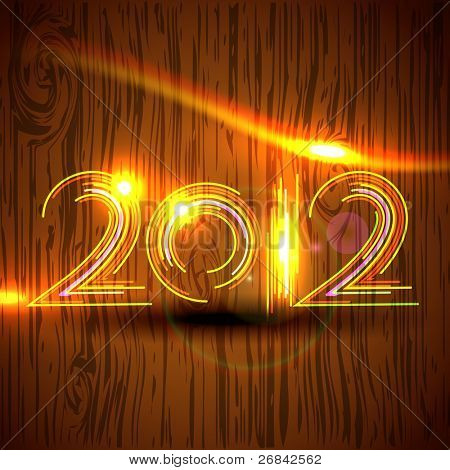 poster of vector creative happy new year design