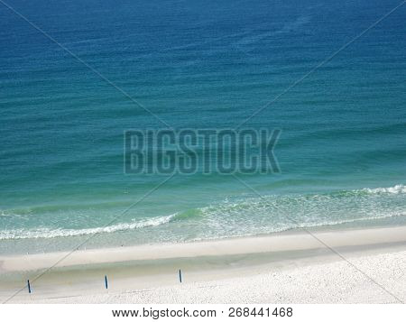 Early Morning Along The Emerald Coast, Overlooking The Clear, Blue Waters Of The Gulf Of Mexico.