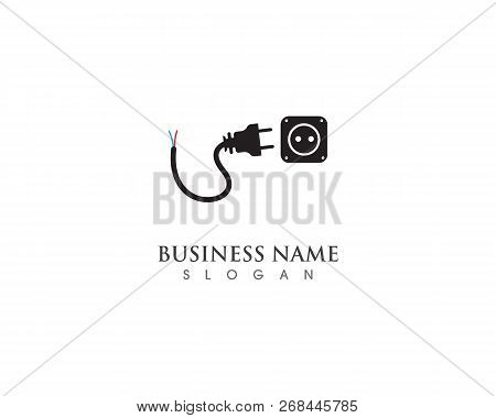 Cable With Plug Electricity Icon Vector Symbol