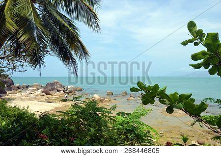 Coast South China Sea In The Park World's End, China, Hainan, Sania