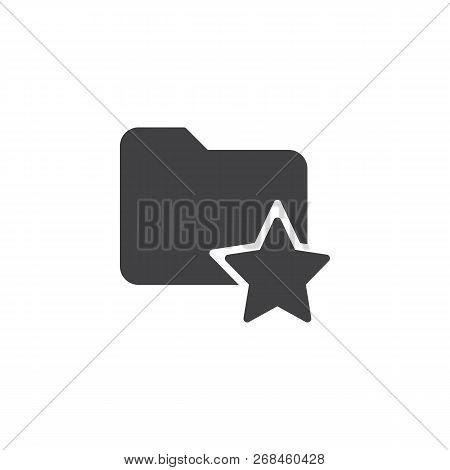 Favorite Folder Vector Icon. Filled Flat Sign For Mobile Concept And Web Design. Bookmark Folder Wit
