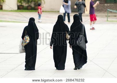 Women In Burqa - Kuala Lumpur - Malaysia