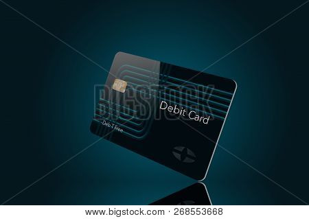 Here Is A Modern Debit Card That Is A Mock With Generic Logo.