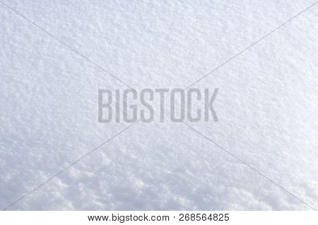 Background Of Fresh Snow. Abstract Christmas Background