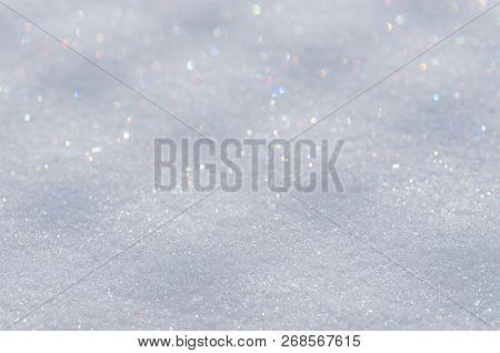 Fresh Snow Texture. Natural Snow Background