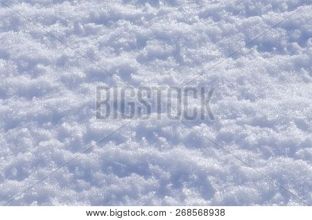 Snow White  Texture. Background Of Snow Texture. Christmas Winter Background