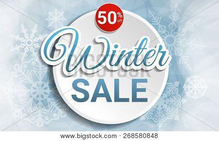 Final Winter Sale Concept Banner. Cartoon Illustration Of Final Winter Sale Concept Banner For Web D