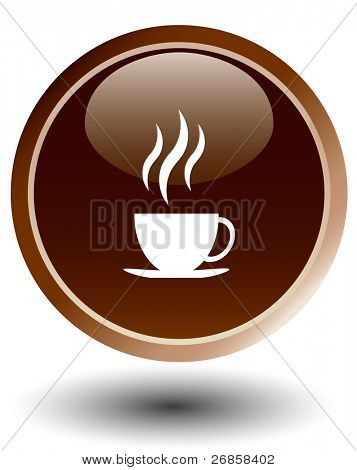 coffee button , vector
