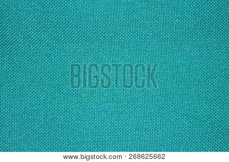 Turquoise Texture Of Binding Fabric.green Fabric Background.turquoise Fabric. Background With Textur
