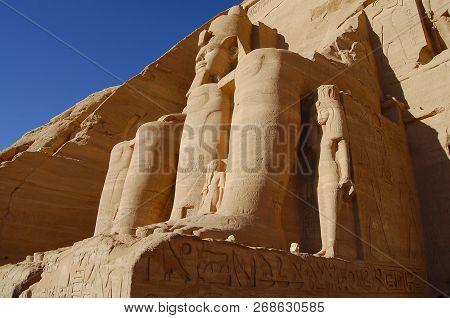 King Ramses Ii - Abu Simbel Temple - Egypt