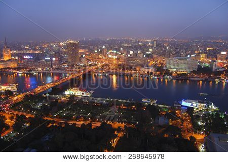 The City Of Cairo At Night - Egypt