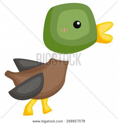 A Vector Of A Cute And Adorable Duck