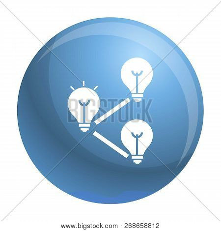 Idea Bulb Interaction Icon. Simple Illustration Of Idea Bulb Interaction Vector Icon For Web Design