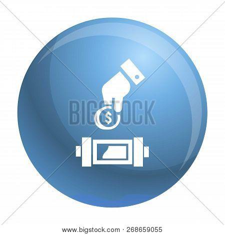 Put Economy Money Coin Icon. Simple Illustration Of Put Economy Money Coin Vector Icon For Web Desig