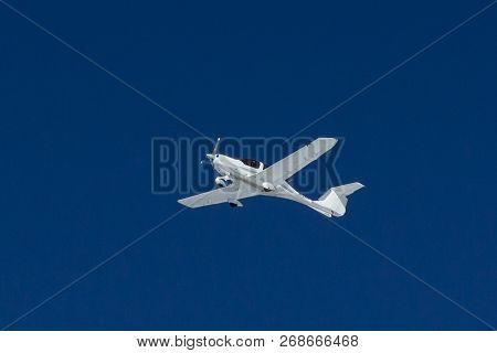 Small Old Transport Plane Flies In The Sky