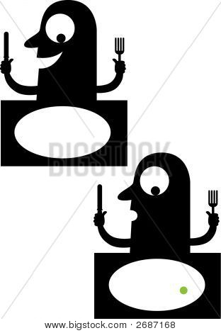 Silhouettes Of Diner