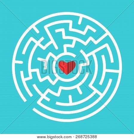 Red Heart Inside Vector Photo Free Trial Bigstock