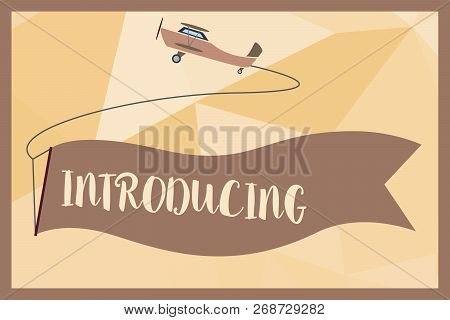 Writing Note Showing Introducing. Business Photo Showcasing Presenting A Topic Or Someone Initial Ap