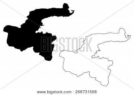 Bitlis (provinces Of The Republic Of Turkey) Map Vector Illustration, Scribble Sketch Bitlis Ili Map