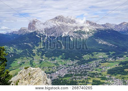 Look At The Ampezzo Valley And Mount