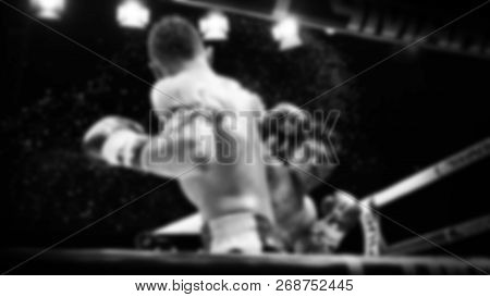 Blurred Images Of Thai Boxing Or Muay Thai On Stage