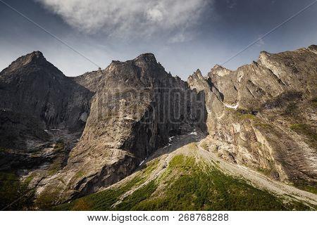 Trollveggen - Highest Mountain Wall In Europe, Middle Norway.