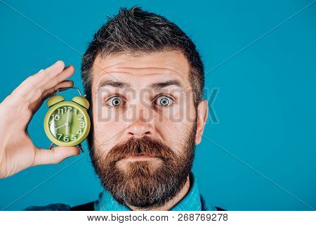 Brutal Caucasian Hipster With Moustache. Bearded Brutal Man. Mature Hipster With Beard. Man. Male Wi