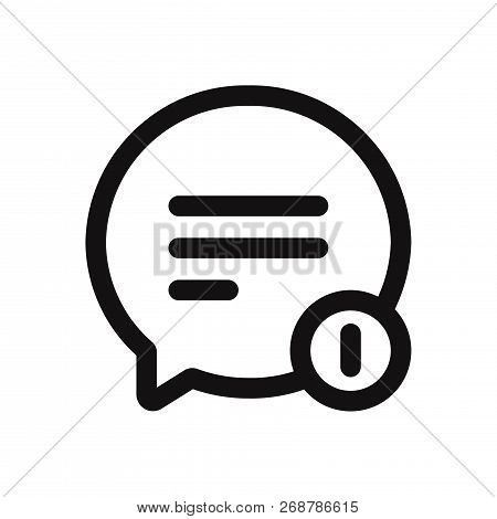 Chat Icon Isolated On White Background. Chat Icon In Trendy Design Style. Chat Vector Icon Modern An