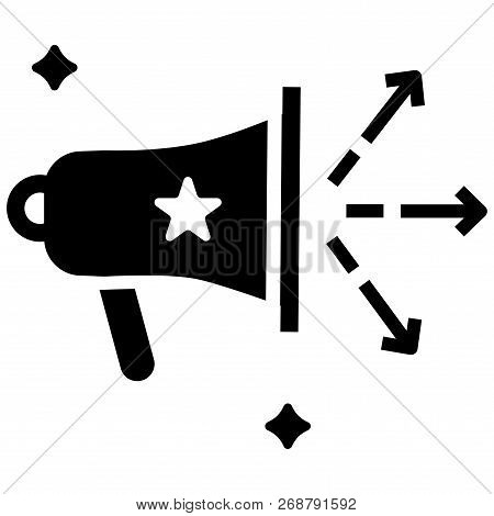 Speakerphone With Arrows Vector Illustration In Solid Color Design