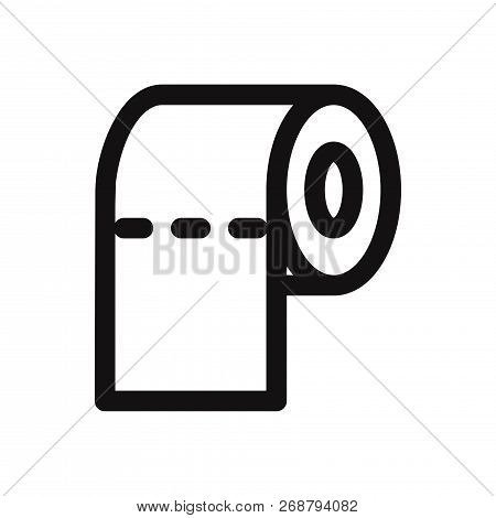 Toilet Paper Icon Isolated On White Background. Toilet Paper Icon In Trendy Design Style. Toilet Pap