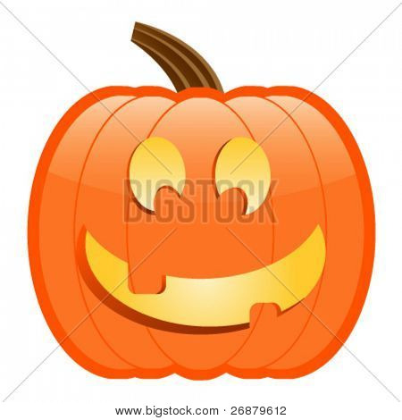 Happy Jack-O-Lantern; perfect for Halloween projects