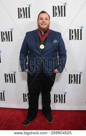 NASHVILLE, TN - NOV 13: Luke Combs attends the BMI Country Awards 2018 at BMI Nashville on November 13, 2018 in Nashville, Tennessee.