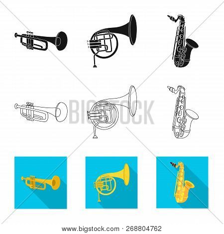 Vector Illustration Of Music And Tune Icon. Set Of Music And Tool Stock Symbol For Web.