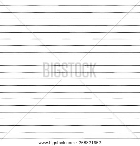 Dotted Horizontal Lines Seamless Vector Background. Black Dots On White Background. Abstract Pattern