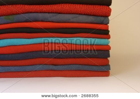 Stacked Pile Of Clothes