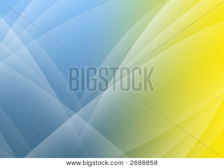 Abstract Background Of Blue And Yellow Color
