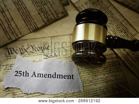 25th Amendment News Headline On Us Constitution