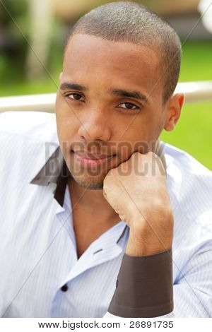 Portrait of an African American young businessman.