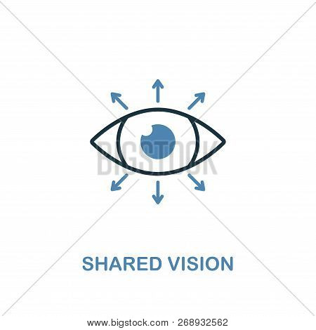 Shared Vision Icon. Two Colors Premium Design From Management Icons Collection. Pixel Perfect Simple
