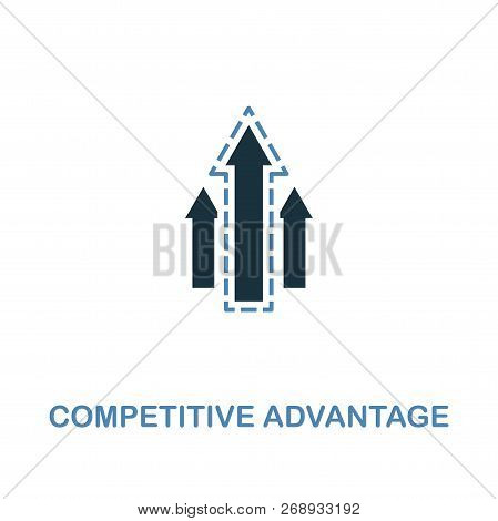 Competitive Advantage Icon. Two Colors Premium Design From Management Icons Collection. Pixel Perfec